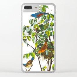Blue Grosbeak Bird Clear iPhone Case