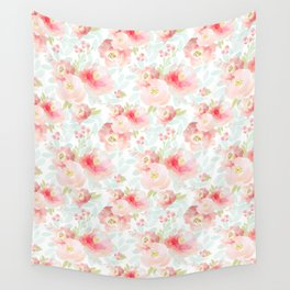 Indy Bloom Design Pink Plush Florals Wall Tapestry