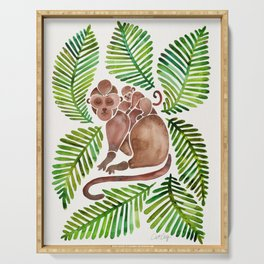Monkey Cuddles – Tropical Green Serving Tray