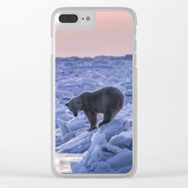 The Tenacious Polar Bear Clear iPhone Case
