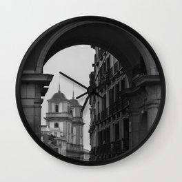 Grey Arch Wall Clock