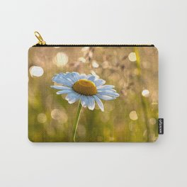 Floral Daisy Flower Flowers in a meadow after rain Carry-All Pouch