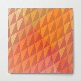 Square Pumpkin Crystals Metal Print