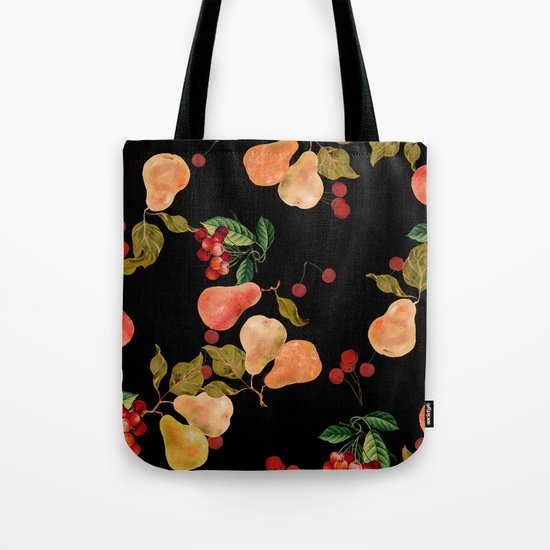 cherries and pears Tote Bag