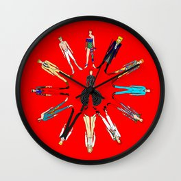 Starman on Red Wall Clock
