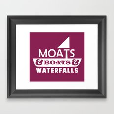Moats and Boats and Waterfalls Graphic Framed Art Print