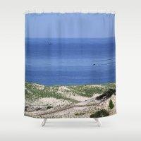 cape cod Shower Curtains featuring Cape Cod by Heidi Ingram