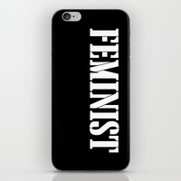 feminist iPhone & iPod Skins featuring Feminist by Wild Typography
