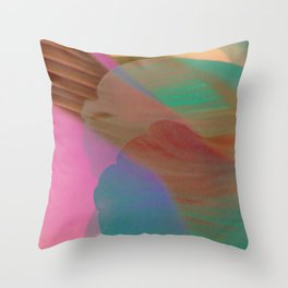 somewhere else with feathers Throw Pillow