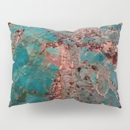 Marble Turquoise Blue Pillow Sham