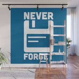 Never Forget Floppy Disk Geek Quote Wall Mural