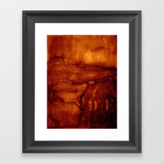 brown wall Framed Art Print
