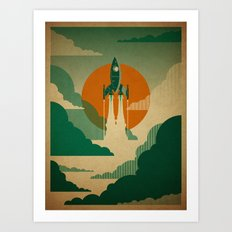 The Voyage (Green) Art Print