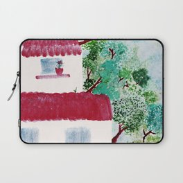 Village houses in the woods watercolor Laptop Sleeve
