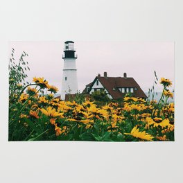 Portland Headlight and Flowers Rug