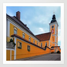 The village church of Niederwaldkirchen I | architectural photography Art Print