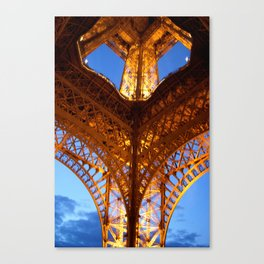 Looking up-Eiffel Tower-Paris Canvas Print
