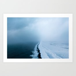 Infinite and minimal black sand beach in Iceland - Landscape Photography Kunstdrucke