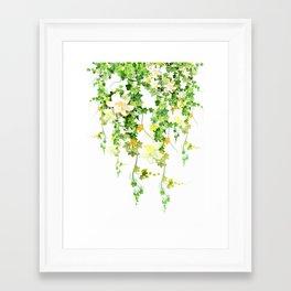 Watercolor Ivy Framed Art Print