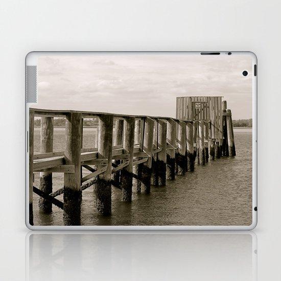 Black and White Pier Laptop & iPad Skin