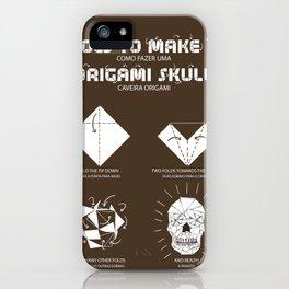 Origami Instruction iPhone Case