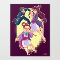 ace attorney Canvas Prints featuring ace attorney by jununy