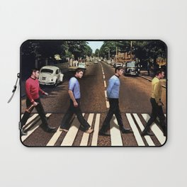 Boldly going on Abbey Road Laptop Sleeve
