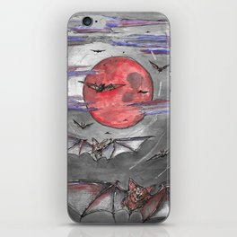 Bat Moon iPhone Skin