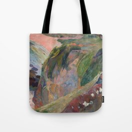 The Flageolet Player on the Cliff by Paul Gauguin Tote Bag