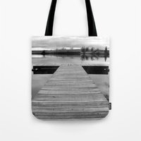 lonely Tote Bags featuring Lonely by Leah M. Gunther Photography & Design