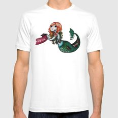 Creature of the sea Mens Fitted Tee White MEDIUM