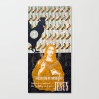 jesus Canvas Prints featuring Jesus by Alec Goss