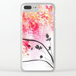 Orchid Joy Clear iPhone Case
