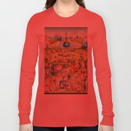 The Garden of Earthly Delights by Bosch Long Sleeve T-shirt