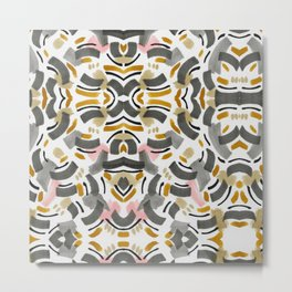 Mosaic abstract brush strokes Metal Print