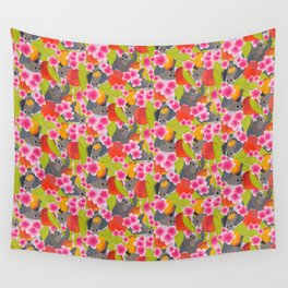 Bats and Peaches Wall Tapestry