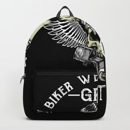 Funny Motorcyclist Bikers Don't Go Gray Backpack