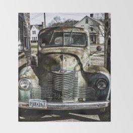 Vintage pickup truck Throw Blanket