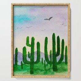 Cactus at Daybreak Serving Tray