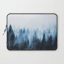 Misty Winter Forest Laptop Sleeve