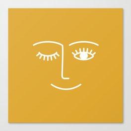 wink / mustard Canvas Print