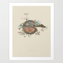 Celtic Initial E Art Print