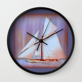 Ghost Sails Wall Clock