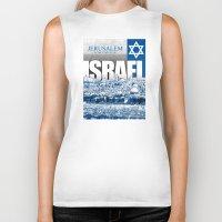 israel Biker Tanks featuring Jerusalem, Israel by politics