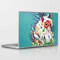 mononoke Laptop & iPad Skins featuring Princess Mononoke by Stephanie Kao
