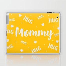 Mommy Hug Yellow / Trendy mom shirt, New Mom Gift, Mothers Day Gift Laptop & iPad Skin