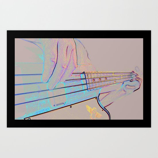 Bass-ics Art Print