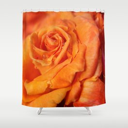 Tangerine Rose Shower Curtain