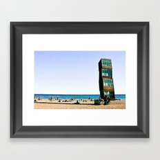Beach House Framed Art Print