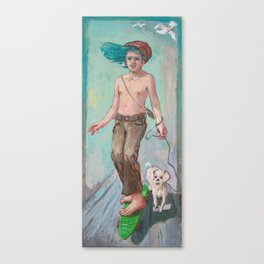 green skate Canvas Print